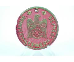 Tysk ww2 WHW træemblem - Winterhilfswerk 1934/35 - sjælden - 100 % original