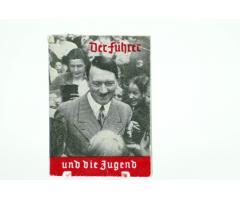 Tysk ww2 WHW mini hæfte, Der Führe und die Jugend - Hitler Jugend - flot stand og 100 % original