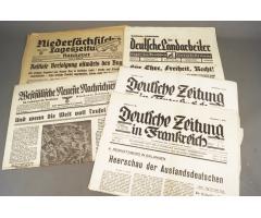 WW2 Tysk Avis lot. 5 stk. ORIGINALT!