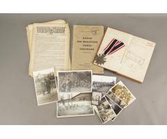 WW2 Tysk Blandet lot. Kriegsverdienst kreuz, bøger m. gode stempler, billeder mv.