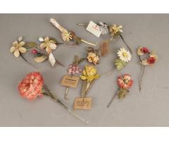 WW2 Tysk WHW (Winterhilfswerke) blomster lot. 13 stk. Sjældne. ORIGINALT